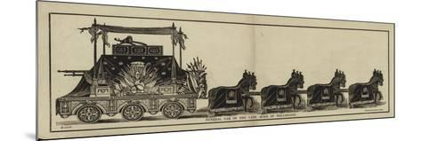 Funeral Car of the Late Duke of Wellington--Mounted Giclee Print