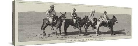 Egyptian Donkey-Boys at Cairo--Stretched Canvas Print