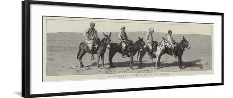 Egyptian Donkey-Boys at Cairo--Framed Art Print