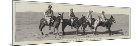Egyptian Donkey-Boys at Cairo--Mounted Giclee Print