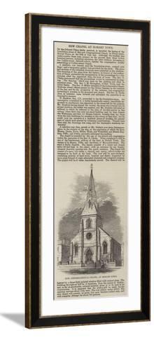 New Congregational Chapel at Hobart Town--Framed Art Print
