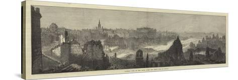 General View of the Ruins after the Great Fire at Boston--Stretched Canvas Print