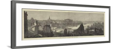 General View of the Ruins after the Great Fire at Boston--Framed Art Print