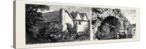 Leicester: Latimer's House (Left), the Old Jewry Wall (Right)--Stretched Canvas Print