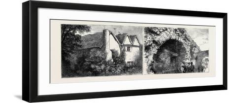 Leicester: Latimer's House (Left), the Old Jewry Wall (Right)--Framed Art Print