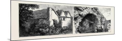 Leicester: Latimer's House (Left), the Old Jewry Wall (Right)--Mounted Giclee Print