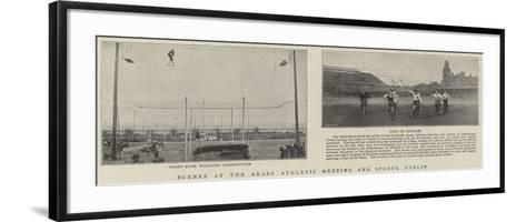 Scenes at the Araby Athletic Meeting and Sports, Dublin--Framed Art Print