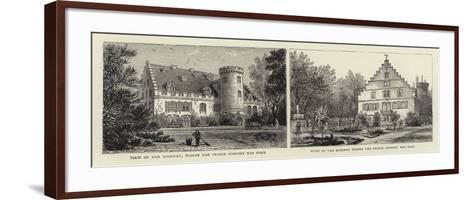 View of the Rosenau, Where the Prince Consort Was Born--Framed Art Print