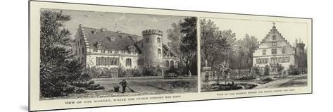 View of the Rosenau, Where the Prince Consort Was Born--Mounted Giclee Print