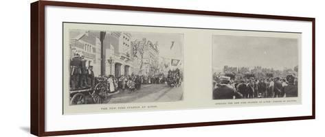 The New Fire Station at Acton--Framed Art Print
