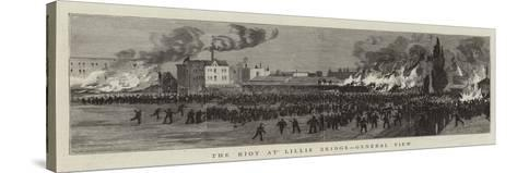 The Riot at Lillie Bridge, General View--Stretched Canvas Print