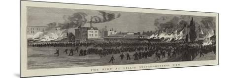 The Riot at Lillie Bridge, General View--Mounted Giclee Print
