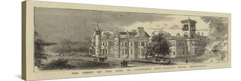 The Theft of the Earl of Crawford's Body, Dunecht House, Aberdeenshire--Stretched Canvas Print