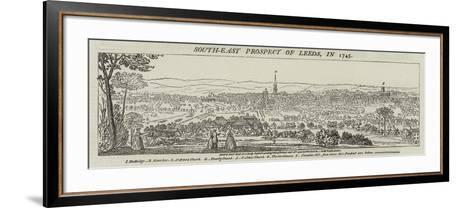 South-East Prospect of Leeds, in 1745--Framed Art Print
