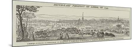South-East Prospect of Leeds, in 1745--Mounted Giclee Print