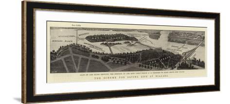 The Scheme for Saving Life at Niagara--Framed Art Print