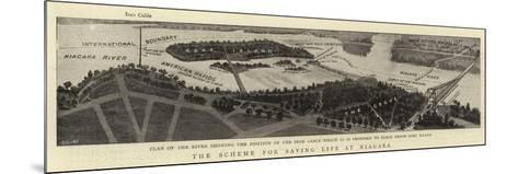 The Scheme for Saving Life at Niagara--Mounted Giclee Print