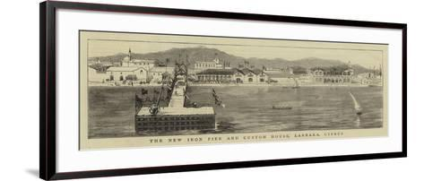 The New Iron Pier and Custom House, Larnaka, Cyprus--Framed Art Print