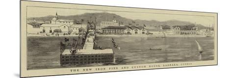 The New Iron Pier and Custom House, Larnaka, Cyprus--Mounted Giclee Print
