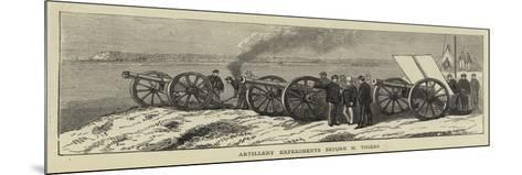 Artillery Experiments before M Thiers--Mounted Giclee Print