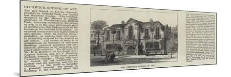 The Chiswick School of Art--Mounted Giclee Print