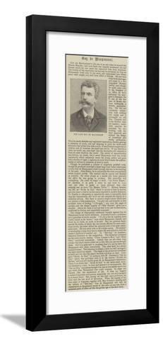 The Late Guy De Maupassant--Framed Art Print