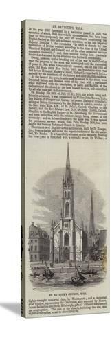 St Saviour's Church, Riga--Stretched Canvas Print