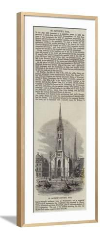 St Saviour's Church, Riga--Framed Art Print