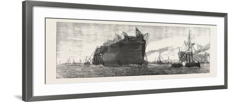 The Inflexible Being Towed to Her Moorings, 1876, UK--Framed Art Print