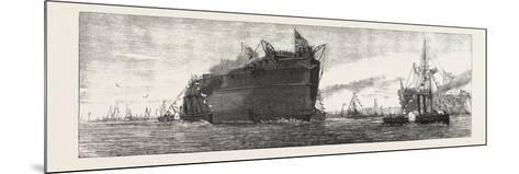 The Inflexible Being Towed to Her Moorings, 1876, UK--Mounted Giclee Print