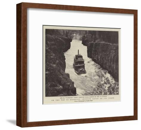 On the Way to Klondyke, Shooting Rapids on the Yukon--Framed Art Print
