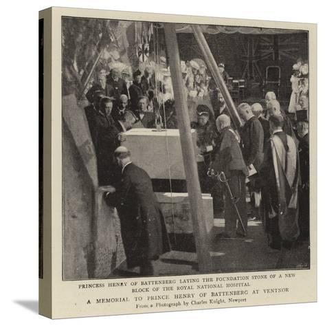 A Memorial to Prince Henry of Battenberg at Ventnor--Stretched Canvas Print