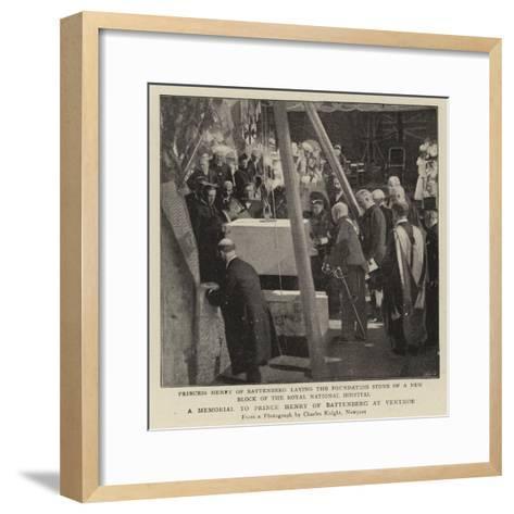 A Memorial to Prince Henry of Battenberg at Ventnor--Framed Art Print
