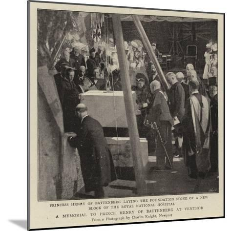 A Memorial to Prince Henry of Battenberg at Ventnor--Mounted Giclee Print