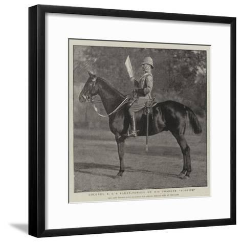 Colonel R S S Baden-Powell on His Charger Aconite--Framed Art Print
