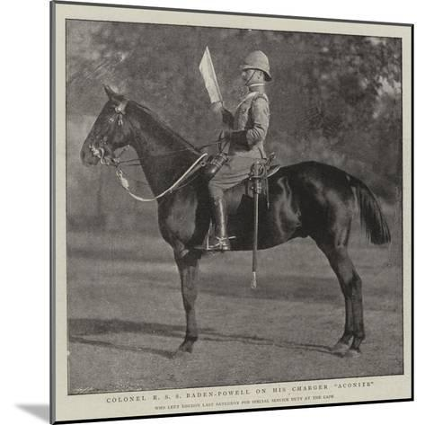 Colonel R S S Baden-Powell on His Charger Aconite--Mounted Giclee Print