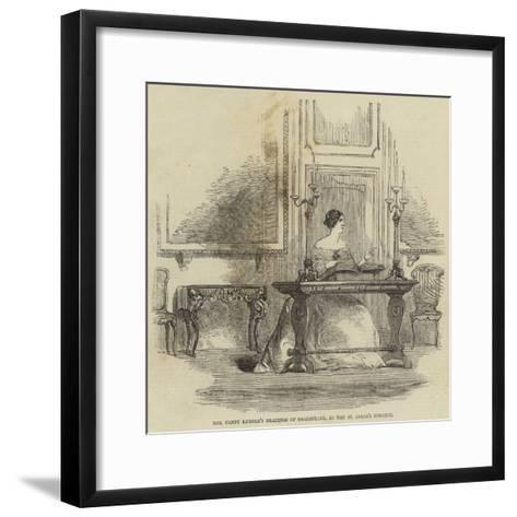 Mrs Fanny Kemble's Readings of Shakespeare, at the St James's Theatre--Framed Art Print