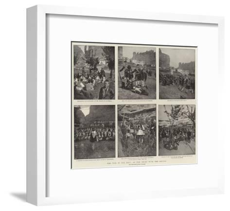 The War in the East, at the Front with the Greeks--Framed Art Print