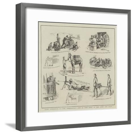 Some Varieties of the Nordenfelt Gun as Now Used in the Army and Navy--Framed Art Print
