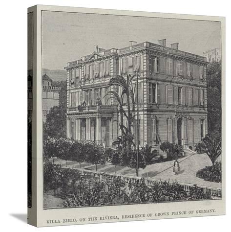 Villa Zirio, on the Riviera, Residence of Crown Prince of Germany--Stretched Canvas Print