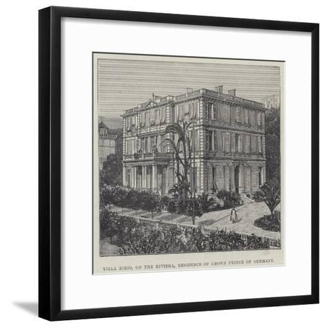 Villa Zirio, on the Riviera, Residence of Crown Prince of Germany--Framed Art Print
