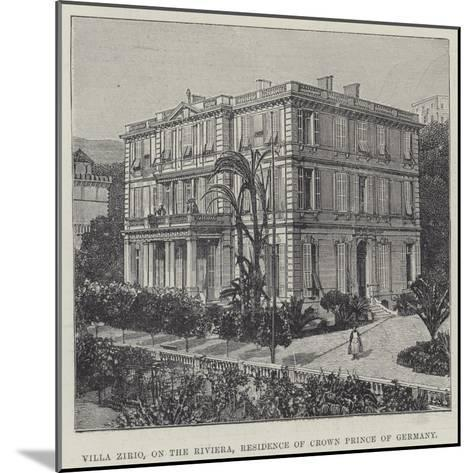 Villa Zirio, on the Riviera, Residence of Crown Prince of Germany--Mounted Giclee Print