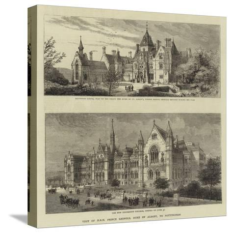 Visit of Hrh Prince Leopold, Duke of Albany, to Nottingham--Stretched Canvas Print