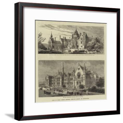 Visit of Hrh Prince Leopold, Duke of Albany, to Nottingham--Framed Art Print