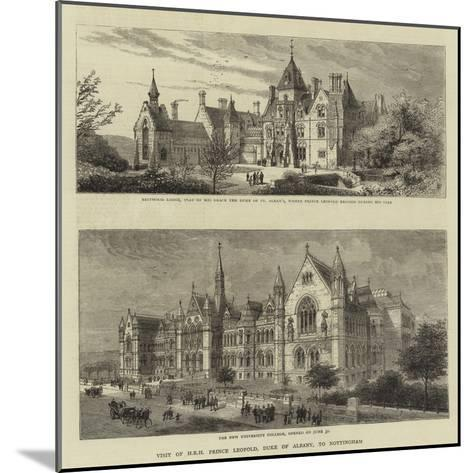 Visit of Hrh Prince Leopold, Duke of Albany, to Nottingham--Mounted Giclee Print