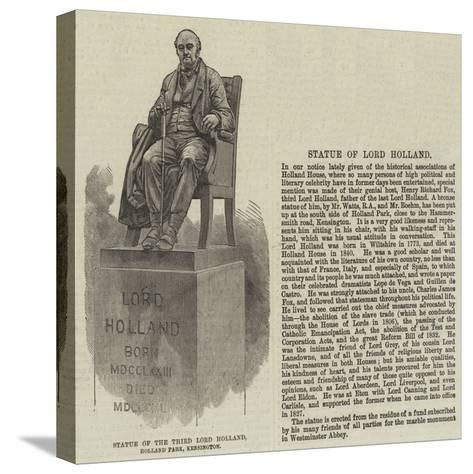 Statue of the Third Lord Holland, Holland Park, Kensington--Stretched Canvas Print