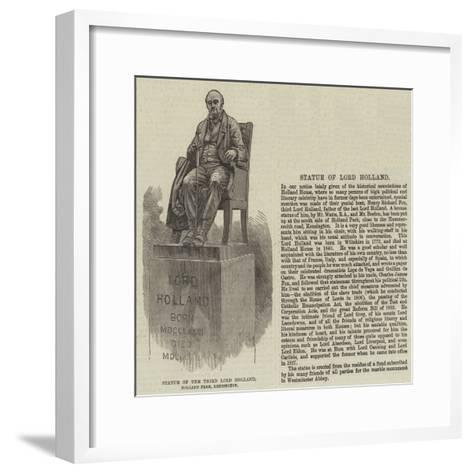 Statue of the Third Lord Holland, Holland Park, Kensington--Framed Art Print