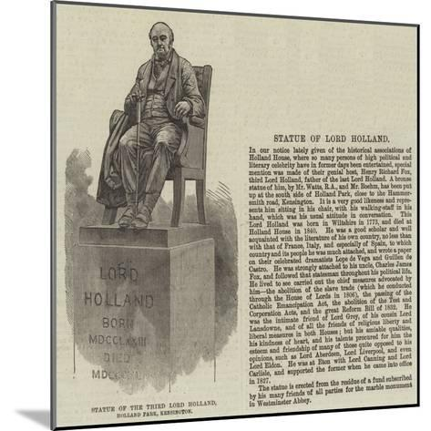 Statue of the Third Lord Holland, Holland Park, Kensington--Mounted Giclee Print