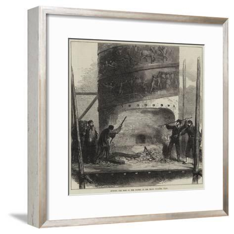 Cutting the Base of the Column in the Place Vendome, Paris--Framed Art Print