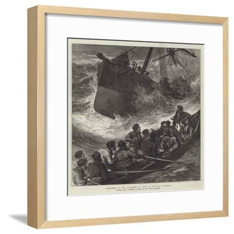 Foundering of the Steam-Ship La Plata in the Bay of Biscay--Framed Art Print